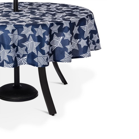 Blue Stars Wipable Tablecloth