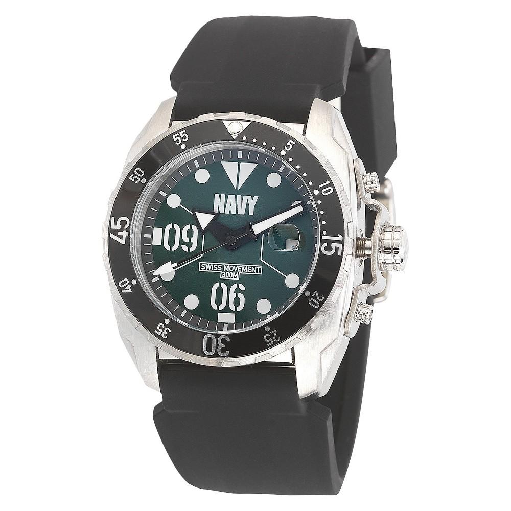 Men's' Wrist Armor U.S. Navy C3 Swiss Quartz Watch - Black & Green, Size: Small
