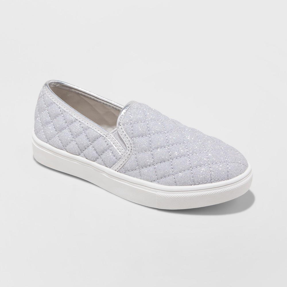 Girls' Koolkicks Quilted Twin Gore Sneakers - Stevies Silver 4