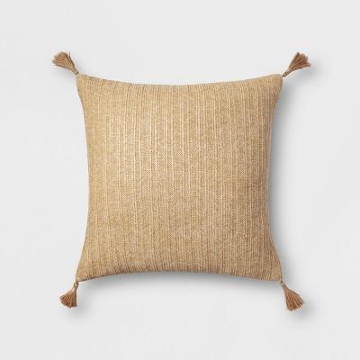 Tassel Oversize Square Throw Pillow Natural - Threshold™