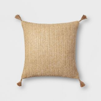 Tassel Oversize Square Throw Pillow Natural - Threshold™