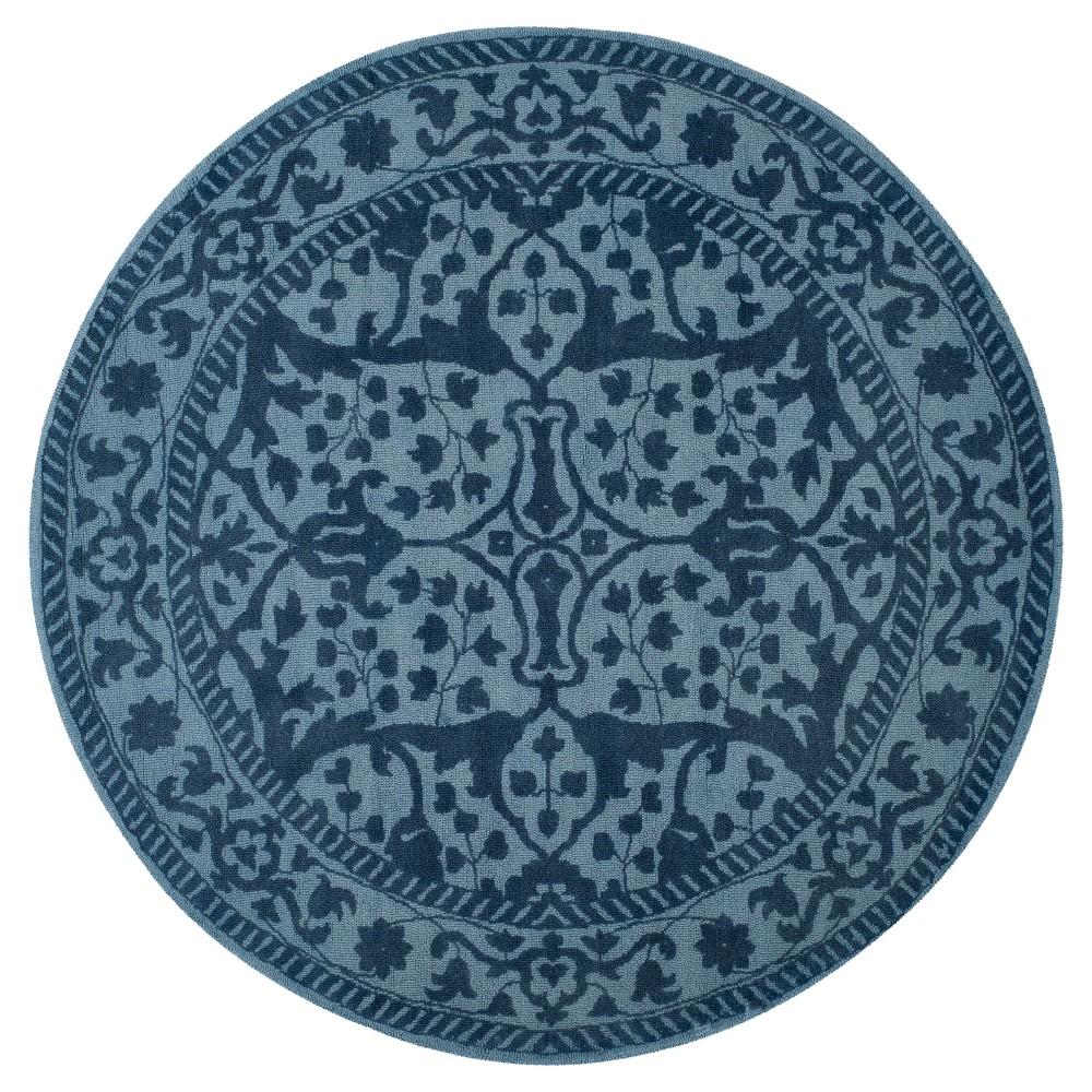 Restoration Vintage Rug - Blue/Dark Blue - (6'x6' Round) - Safavieh