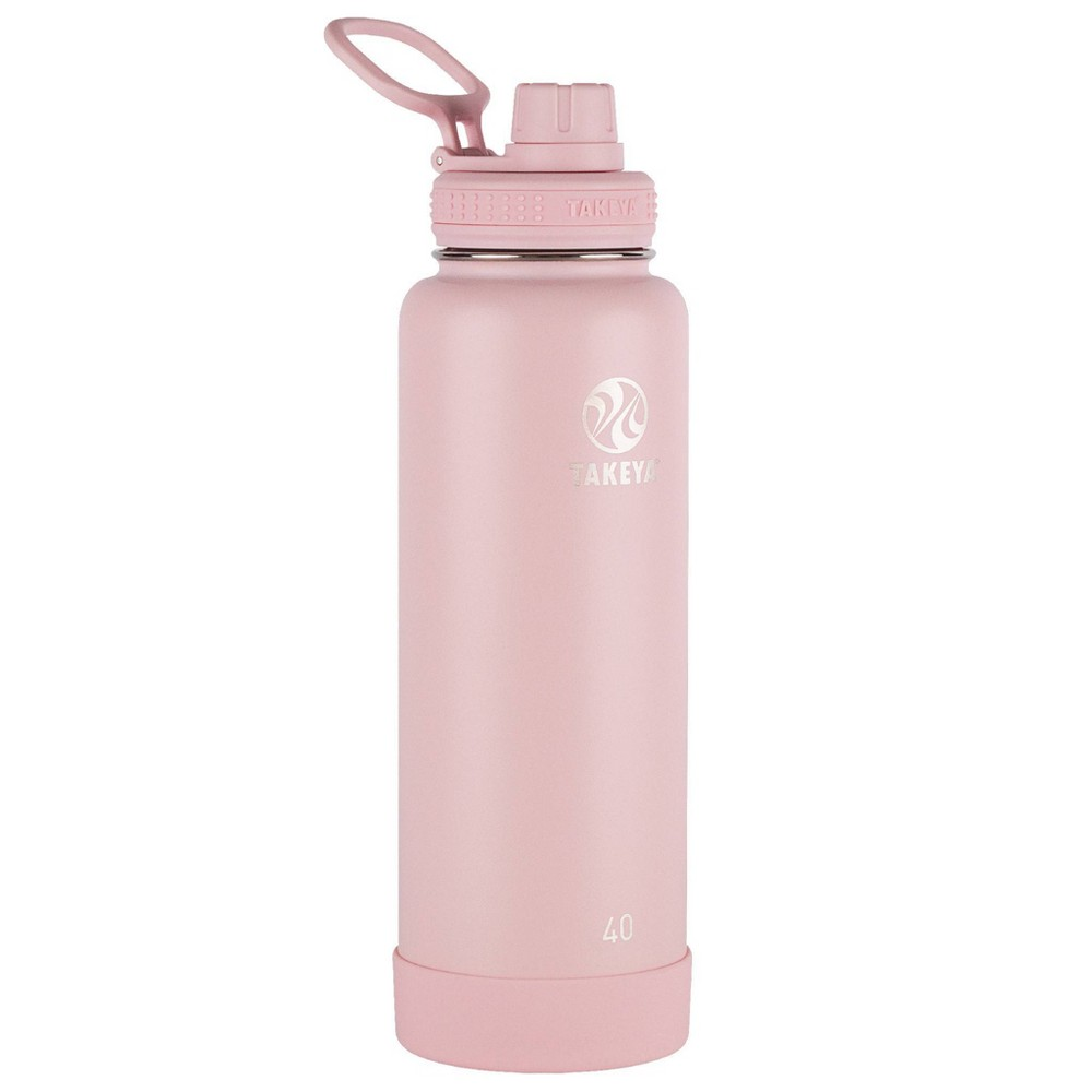 Takeya 40oz Actives Insulated Stainless Steel Water Bottle With Spout Lid Blush