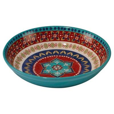 Certified International® Monterrey by Veronique Charron Ceramic Serving Bowl 128oz Blue