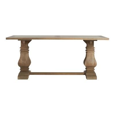 Elmhurst Antiqued Wood Pedestal Dining Table Antiqued Wood Finch Target