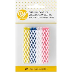 Wilton Celebrations Assorted Candles - 24ct