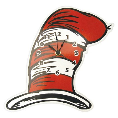 Dr. Seuss Cat in the Hat Wall Clock Red/White - Trend Lab®
