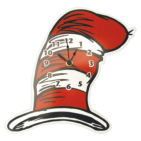 f10d83f1 Dr. Seuss Cat In The Hat Wall Clock Red/White - Trend Lab® : Target