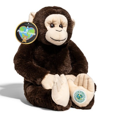 "FAO Schwarz Planet Love Recycled Bottle Monkey - 10"" Toy Plush"