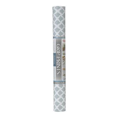 Con-Tact Brand Grip Prints Non-Adhesive Shelf Liner- Talisman Glacier Gray (18''x 4')