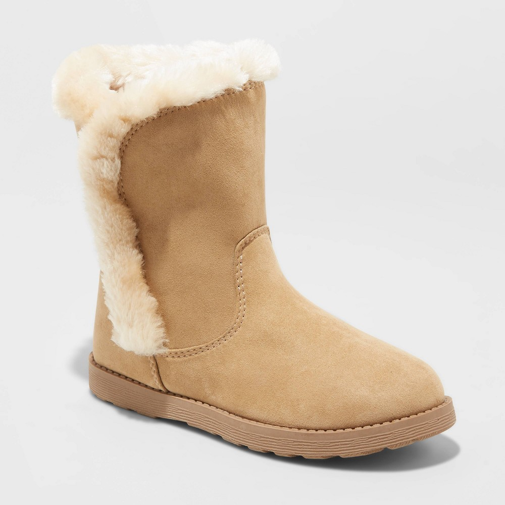 Image of Girls' Hadlee Shearling Boots - Cat & Jack Tan 1