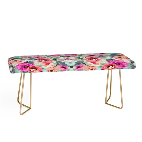 Marta Barragan Camarasa Abstract Flowers Bench by Deny Designs - image 1 of 2