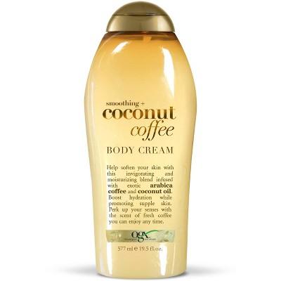 Body Lotions: OGX Coconut Coffee Body Cream