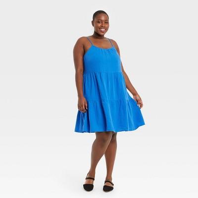 Women's Plus Size Tiered Tank Dress - Universal Thread™