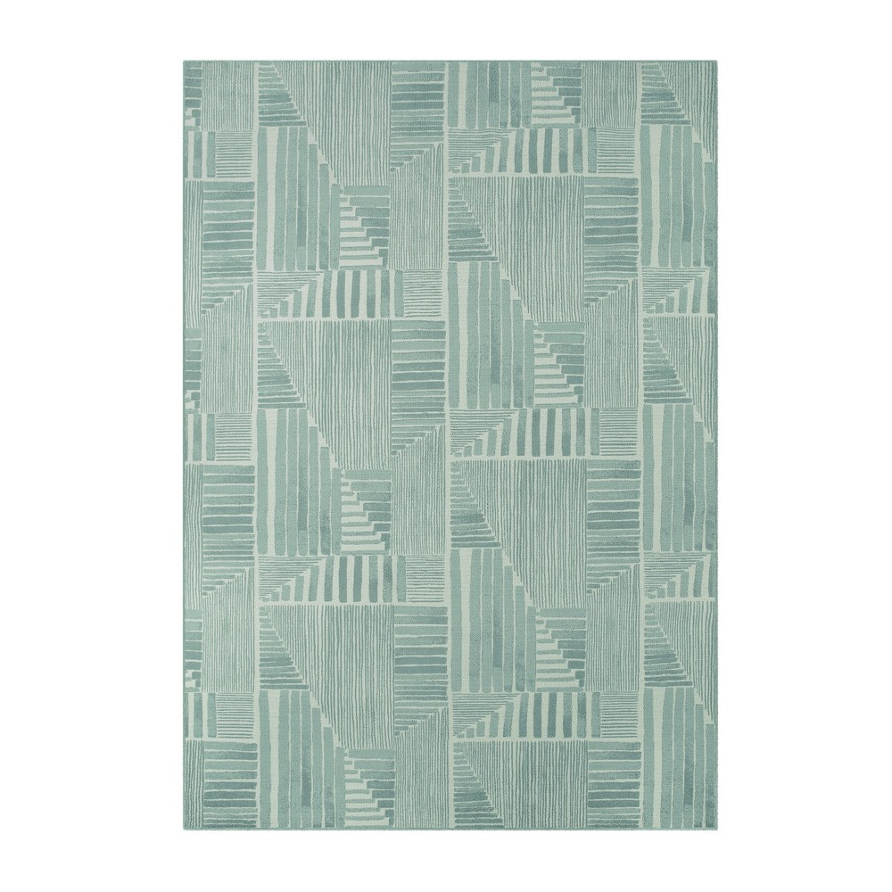 9'X12' Tufted Geometric Area Rug Green - Project 62