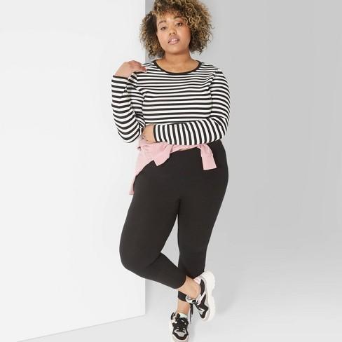 2a4d826eacbd1 Women s Plus Size High-Waist Leggings - Wild Fable™ Black   Target