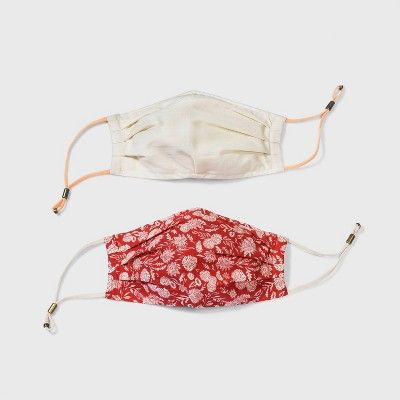 Women's 2pk Adjustable Face Mask -  Universal Thread™ Red Size