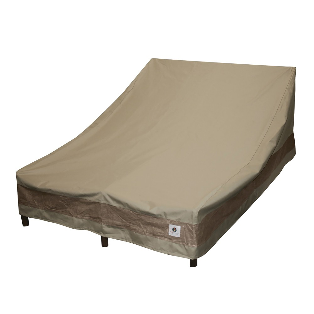 82L Elegant Double Wide Chaise Lounge Cover Coffee (Brown) - Classic Accessories