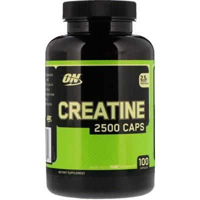 Optimum Nutrition Creatine 2500 Caps, 2.5 g, 100 Capsules, Sports Nutrition Supplements