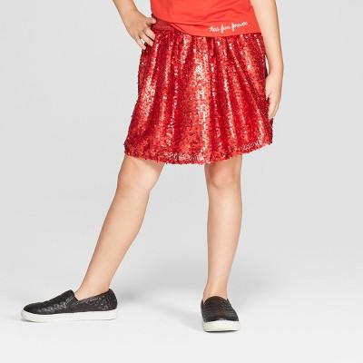 e2d543435 Girls Sequin Short A Line Skirt – Cat & Jack™ Red M – Target ...