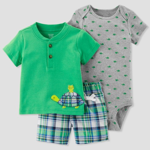 ed32cb845793 Baby Boys  3pc Plaid Turtle Set - Just One You™ Made By Carter s ...