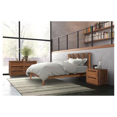 Mid Century Modern Platform Bed Zm Home Target