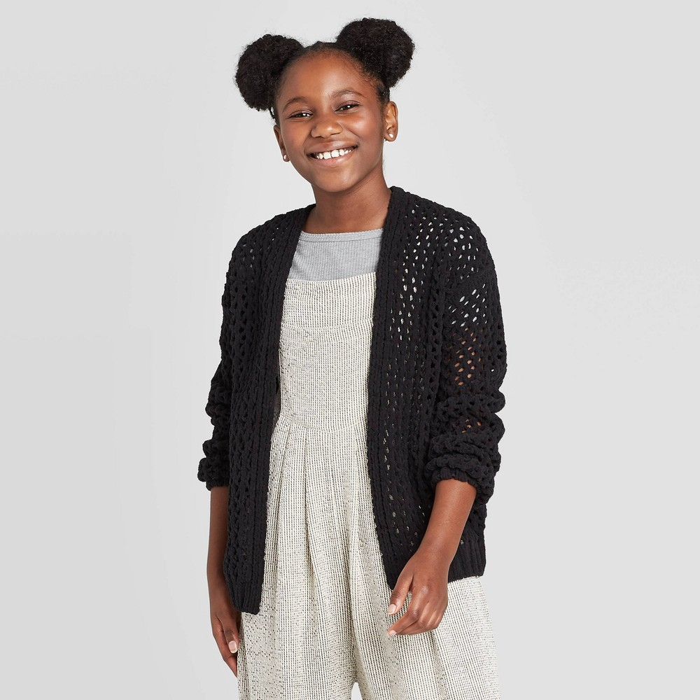 Girls' Chenille Cardigan - art class Black L was $19.99 now $7.99 (60.0% off)