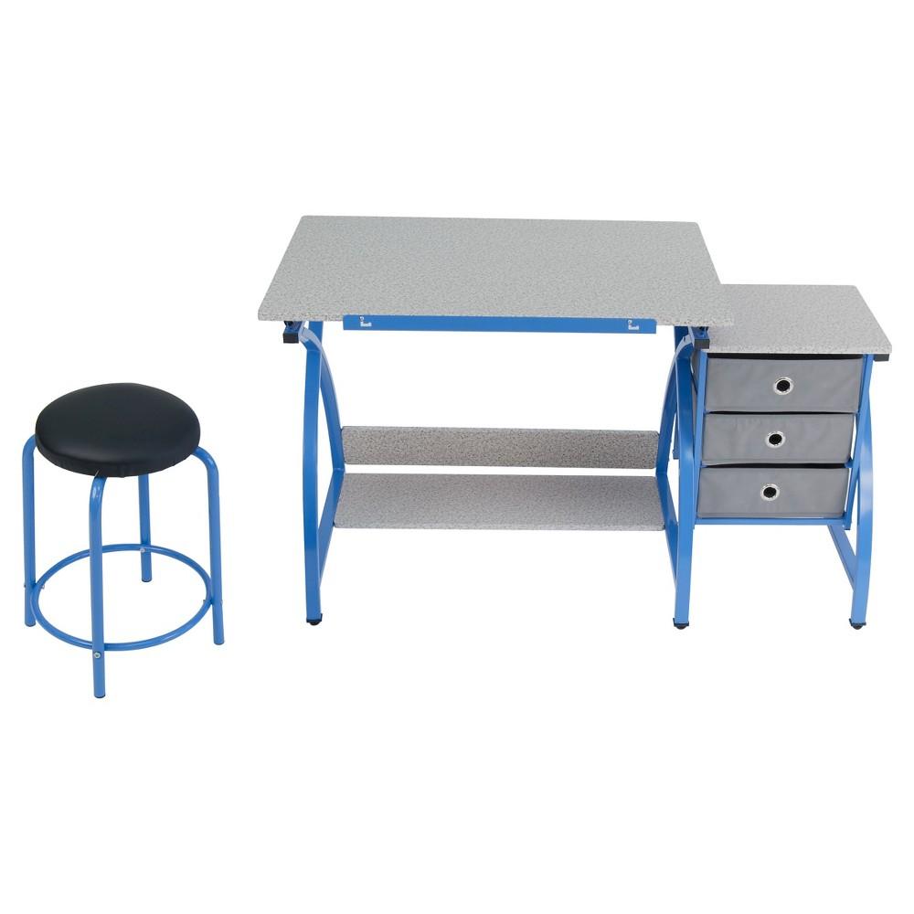 Image of 2pc Canvas & Color Adjustable Top Center Blue/Spatter Gray - Studio Designs