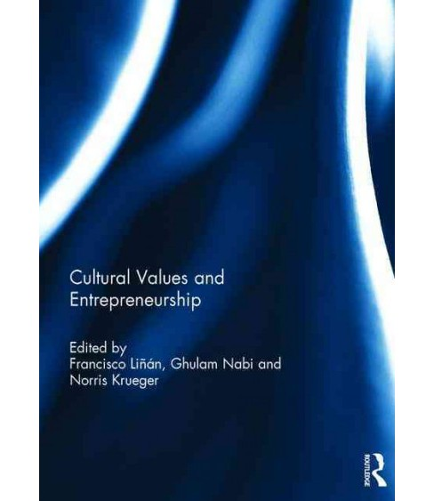 Cultural Values and Entrepreneurship (Hardcover) - image 1 of 1