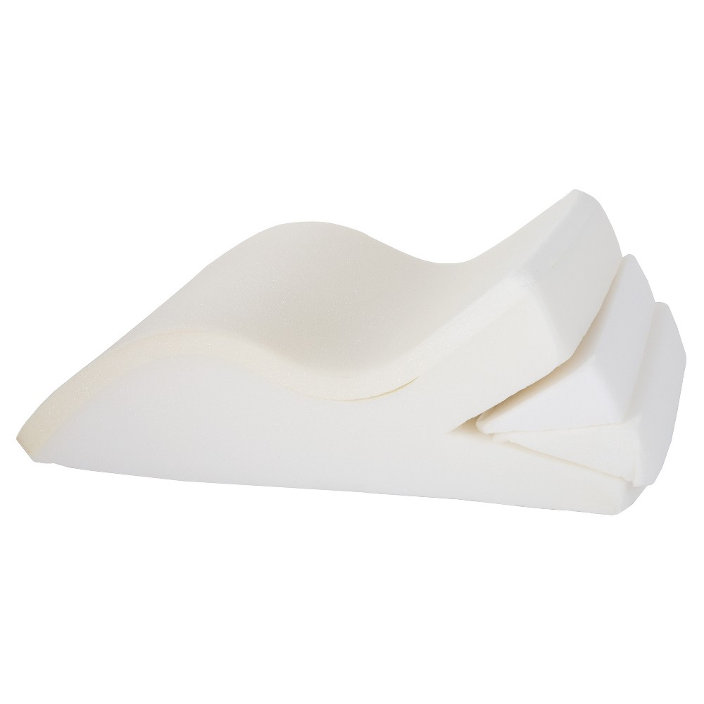 Adjustable Leg Wedge Support Cushion With White Cover - Bluestone
