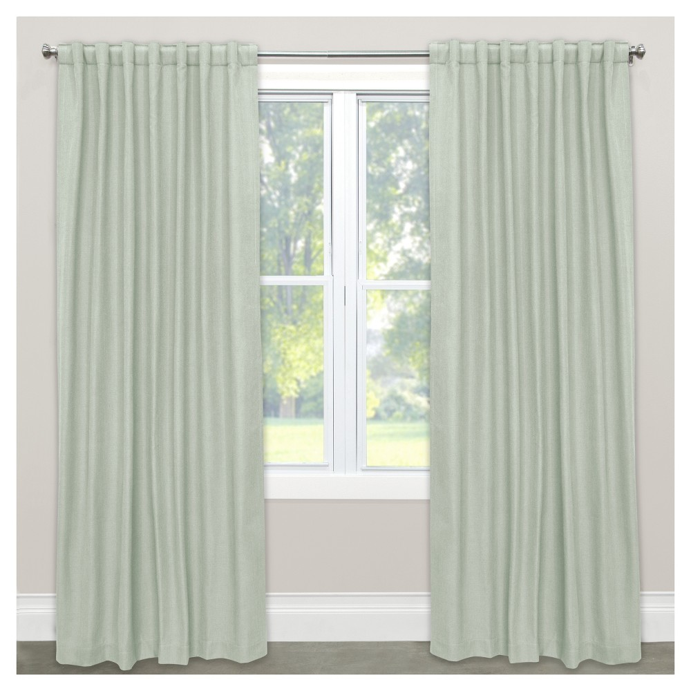 Linen Blackout Curtain Panel Lt Aqua(50