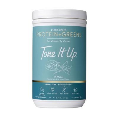 Tone It Up Plant-Based Protein + Greens Powder - Vanilla - 12.83oz