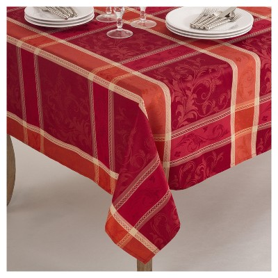 Plaid Design Christmas Tablecloth (70 )- Saro Lifestyle®