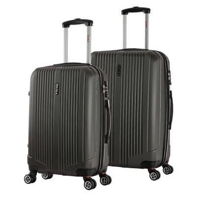 InUSA San Francisco 2pc Hardside Spinner Luggage Set 22 & 26  - Charcoal