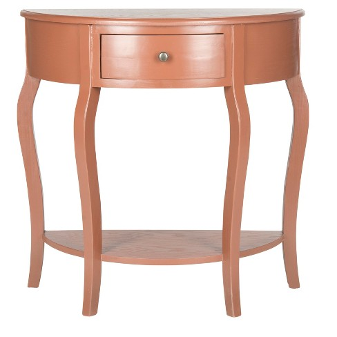 Jan Demilune Console Table - Peach - Safavieh® - image 1 of 3