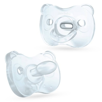 Medela Baby Soft Silicone Pacifier - Blue/Transparent 6-18 Months 2pk