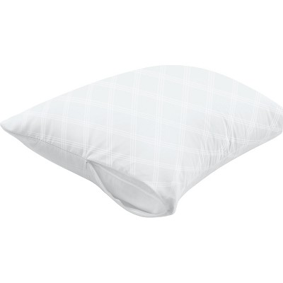 AllerEase Ultimate Comfort Breathable Pillow Protector-White (Standard/Queen)