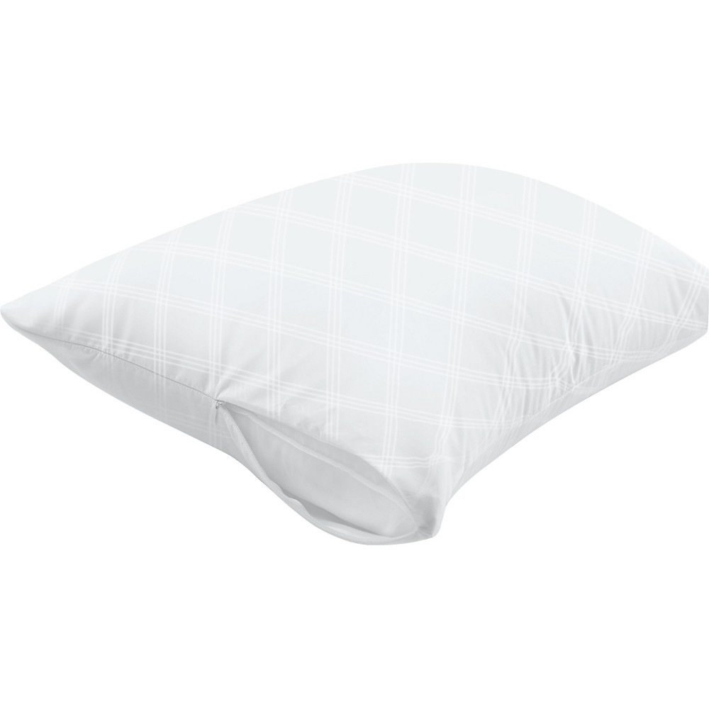 AllerEase Ultimate Comfort Breathable Pillow Protector-White (Standard/Queen), White