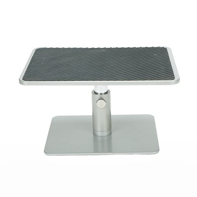 Mind Reader Table Top Monitor Riser, Silver with Black Top