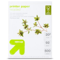 Recycled Printer Paper Letter Size 20# 500ct White - Up&Up™