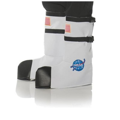 Underwraps NASA Astronaut Adult Costume Boot Tops - One Size- White