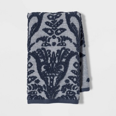 Ogee Ombre Hand Towel Blue/White - Threshold™