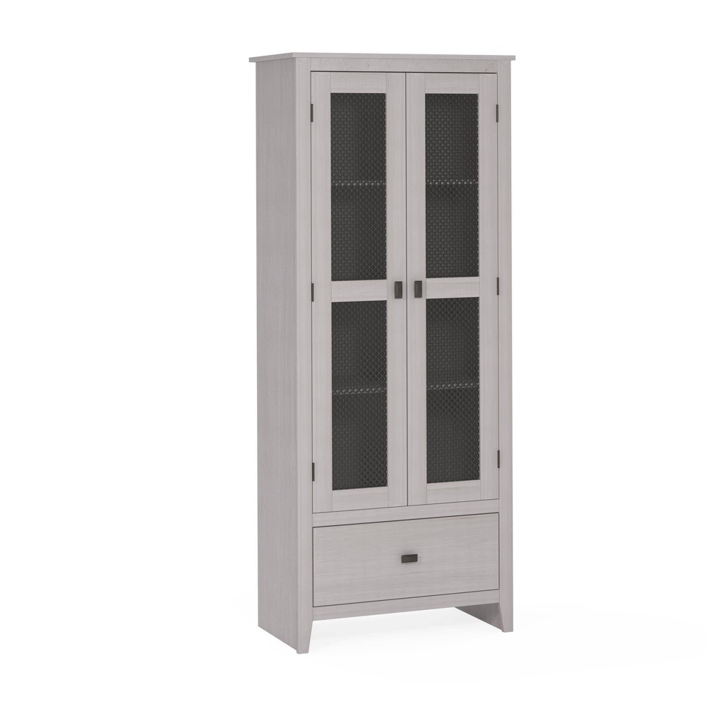 30 Coulwood Wide Storage Cabinet with Mesh Doors Ivory - Room & Joy