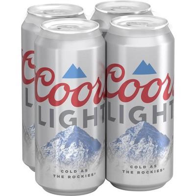 Coors Light Beer - 4pk/16 fl oz Cans