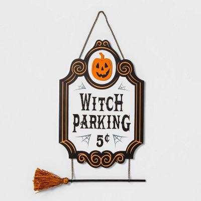 Witch Parking Halloween Wooden Sign - Hyde & EEK! Boutique™