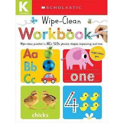 Wipe Clean Workbooks, Kindergarten ( Scholastic Early Learners) (Paperback) by   Scholastic Inc.