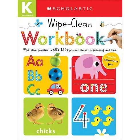 Wipe Clean Workbooks, Kindergarten ( Scholastic Early Learners) (Paperback) by   Scholastic Inc. - image 1 of 1