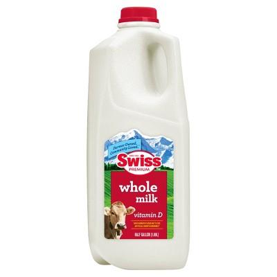 Swiss Premium Vitamin D Whole Milk - 0.5gal