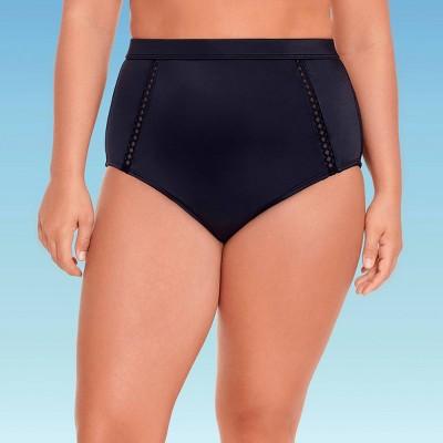 Women's Slimming Control High Waist Cut Out Bikini Bottom - Beach Betty by Miracle Brands