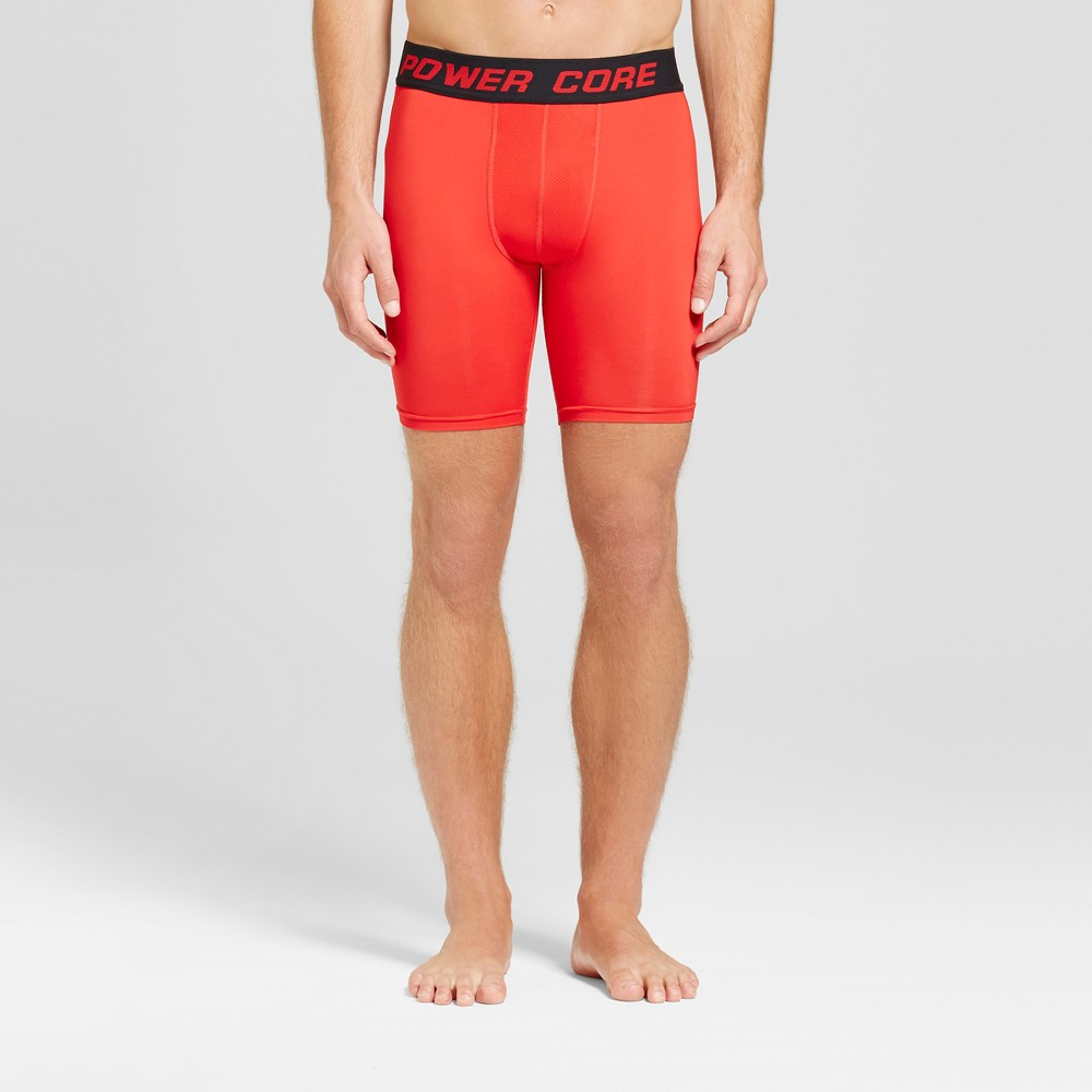 Men's 9 Compression Shorts - C9 Champion Scarlet Red XL